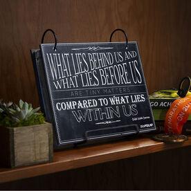 BibFOLIO® Race Bib Album - What Lies Before Us Chalkboard
