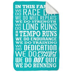 Running Sherpa Fleece Blanket We Do Running
