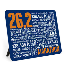 Running Desk Art - 26.2 Math Miles