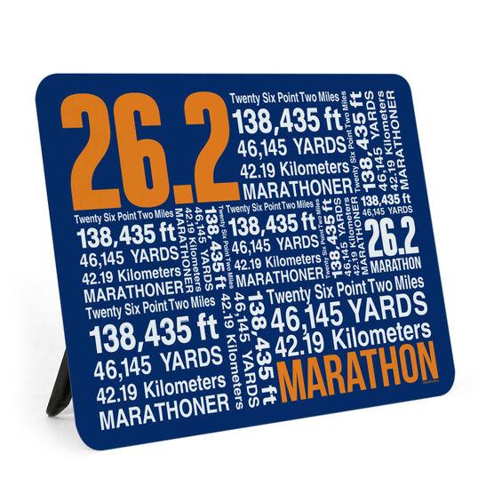 Running Desk Art - 26.2 Math Miles