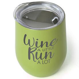 Running Stainless Steel Wine Tumbler - Wine A Little Run A Lot