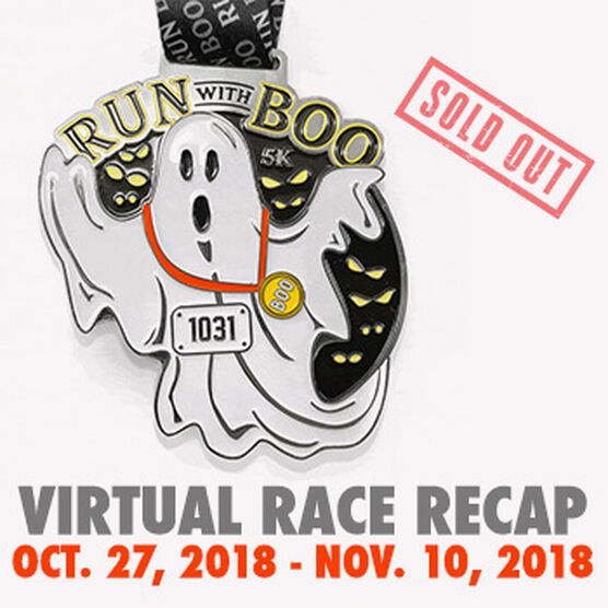 Virtual Race - Run With Boo 5K (Halloween 2018)
