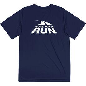 Men's Running Short Sleeve Performance Tee - Gone For a Run White Logo