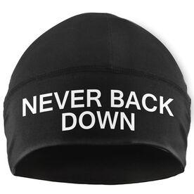 Run Technology Beanie Performance Hat - Never Back Down