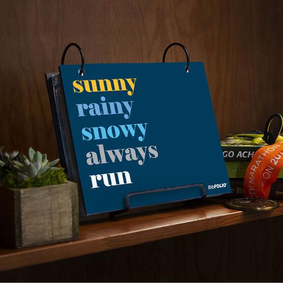 BibFOLIO® Race Bib Album - Weather Mantra