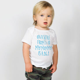 Running Baby T-Shirt - My Mommy Is A 26.2