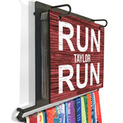 BibFOLIO+™ Race Bib and Medal Display Run Name Run (Rustic)