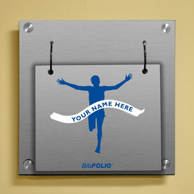 Personalized Male Runner Wall BibFOLIO® Display