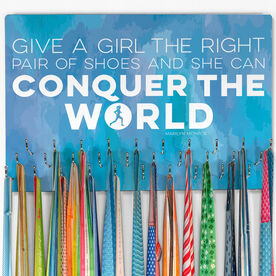 Running Large Hooked on Medals Hanger - Give A Girl The Right Pair of Shoes