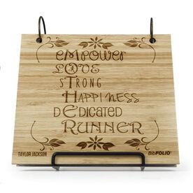 Engraved Bamboo Wood BibFOLIO® Race Bib Album - Mother Runner