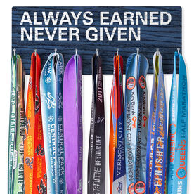 Running Hooked on Medals Hanger - Always Earned Never Given