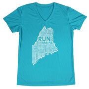 Women's Running Short Sleeve Tech Tee Maine State Runner