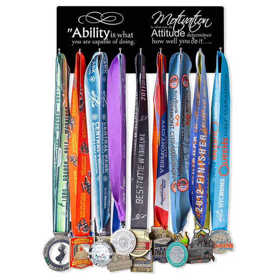 Running Hooked on Medals Hanger - Ability Is What You Are Capable Of Doing