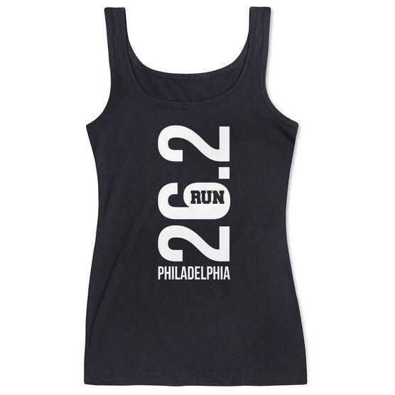 Running Women's Athletic Tank Top - Philadelphia 26.2 Vertical