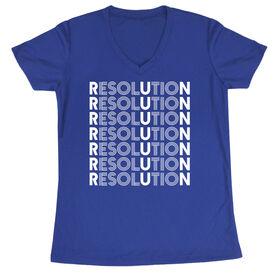 Women's Running Short Sleeve Tech Tee - Resolution Run