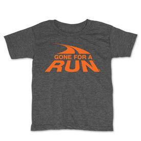 Running Toddler Short Sleeve Tee - Gone For a Run Logo (Orange)