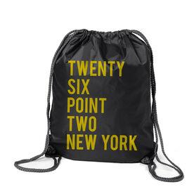Running Sport Pack Cinch Sack Twenty Six Point Two New York