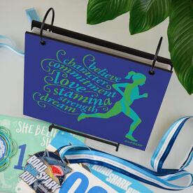 BibFOLIO® Race Bib Album - Believe Running Girl