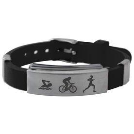 Swim Bike Run Silicone Bracelet