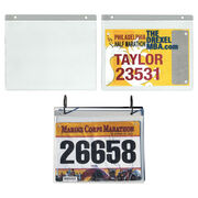 Add Race Bib Vinyl Protector Sleeves (Set of 12)