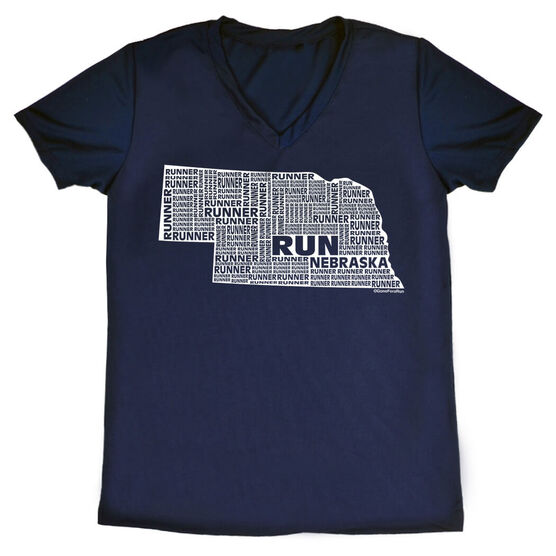 Women's Running Short Sleeve Tech Tee Nebraska State Runner