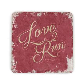 Running Stone Coaster Love 2 Run