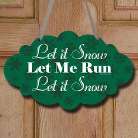 Let It Snow Decorative Cloud Sign