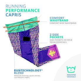 Running Performance Capris - Mardi Gras