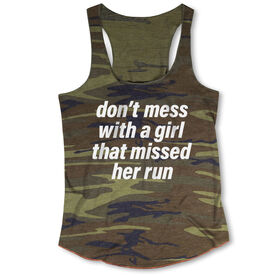 Running Camouflage Racerback Tank Top - Don't Mess With A Girl