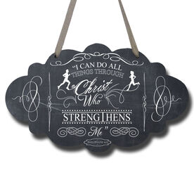 Vintage I Can Do All Things Through Christ Decorative Cloud Sign