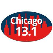 Chicago 13.1 Oval Car Magnet