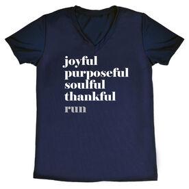 Women's Running Short Sleeve Tech Tee Run Mantra - Run