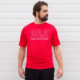 Men's Running Short Sleeve Tech Tee - Marathoner 26.2 Miles