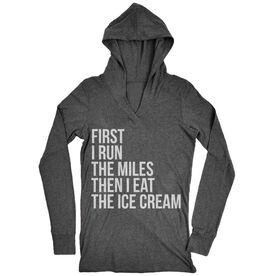 Women's Running Lightweight Performance Hoodie - Then I Eat The Ice Cream