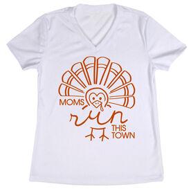 Women's Running Short Sleeve Tech Tee - Moms Run This Town Turkey