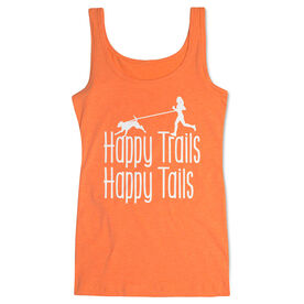 Running Women's Athletic Tank Top - Happy Trails Happy Tails
