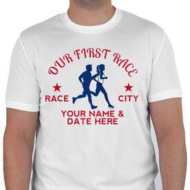 Men's Running Customized Short Sleeve Tech Tee Our First Race