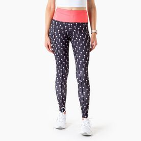 Women's Performance Side Pocket Tights - Wine Time