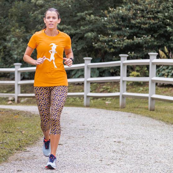Running Performance Capris - Candy Corn