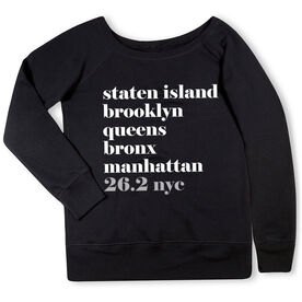 Running Fleece Wide Neck Sweatshirt - Run Mantra NYC