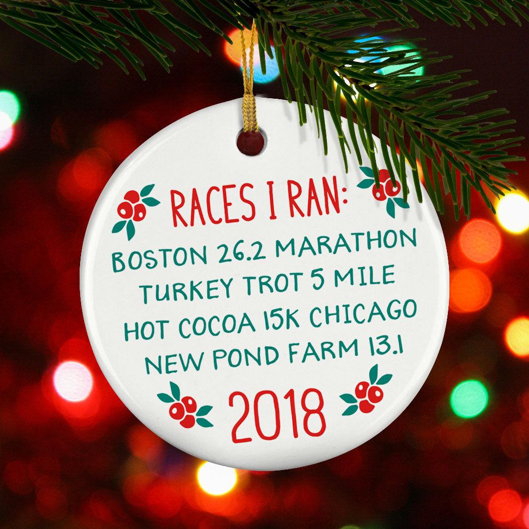 Gone For a Run Running Porcelain Ornament 26.2 Boston Christmas Ornament