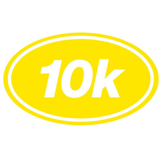 10k Oval Running Vinyl Decal