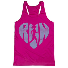 Women's Racerback Performance Tank Top - Love The Run