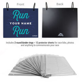 BibFOLIO® Race Bib Album - Run Your Name Run Artist Style