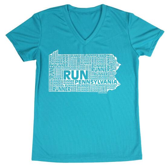 Women's Running Short Sleeve Tech Tee Pennsylvania State Runner