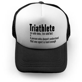 Triathlon Trucker Hat Triathlete Definition