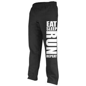 Running Fleece Sweatpants Eat Sleep Run