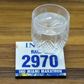 Your Race Bib on Your Coaster BibCOASTERS - Glossy Tile Coaster