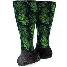 Printed Mid-Calf Socks - Palm Leaves