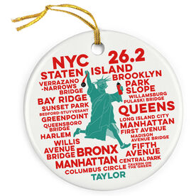 Running Porcelain Ornament New York 26.2 Statue of Liberty